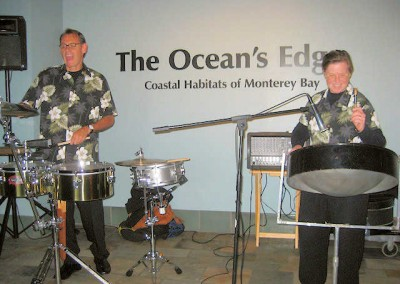 Steel Jam at the Monterey Bay Aquarium for Devcon Construction Company Party
